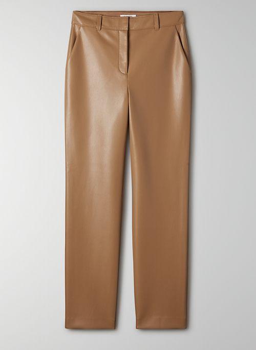 COMMAND PANT - Mid-rise faux leather pant