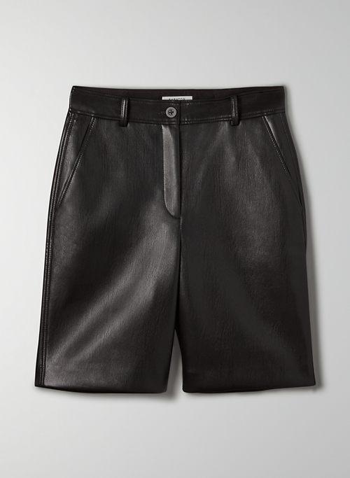 ADRIAN SHORT - High-rise Vegan Leather short