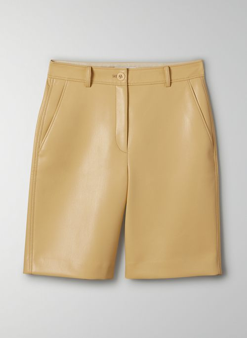 ADRIAN SHORT - High-rise Vegan Leather short