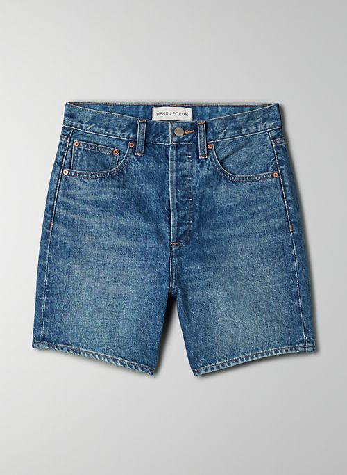 THE JONI MID THIGH SHORT - High-rise loose denim short