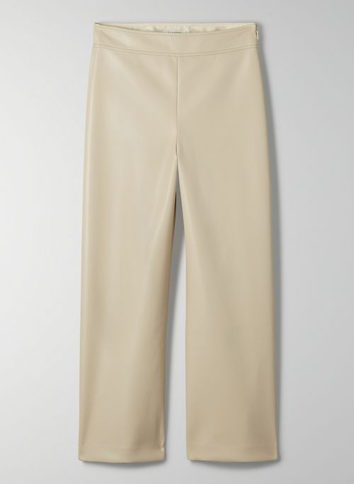 CYNTHIA PANT - High-rise Vegan Leather culotte pant