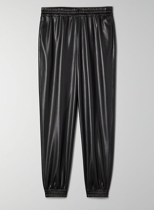 ZEDEL PANT - Faux leather joggers