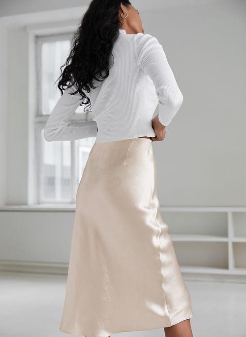Short Slip skirt Ballet Silk Skirt Satin Bias Slip Skirt Ballerina A line Skirt Pink A-line Wrap Mini Skirt