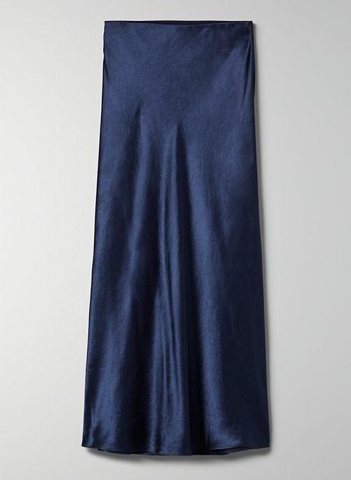 MAXI SLIP SKIRT - High-waisted, satin maxi skirt