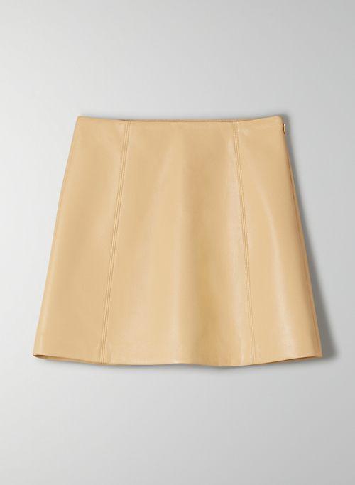 MODERN MINI SKIRT - Faux leather mini skirt