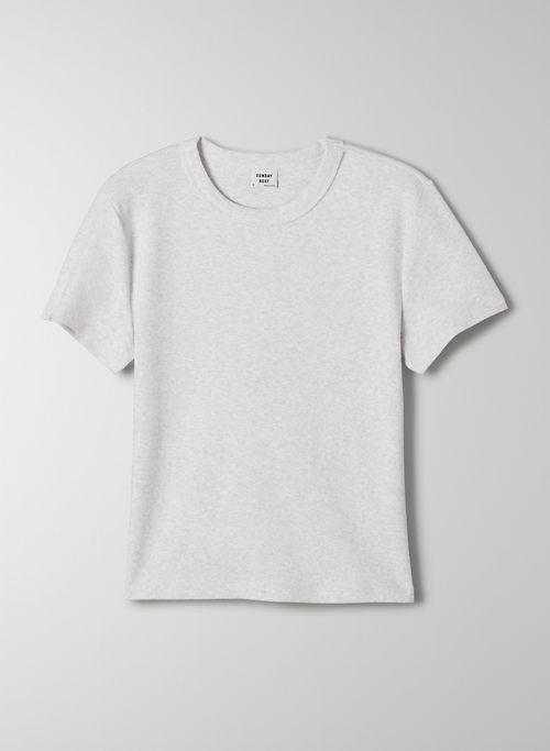 LITTLE RIBBED T-SHIRT - Cropped, ribbed t-shirt