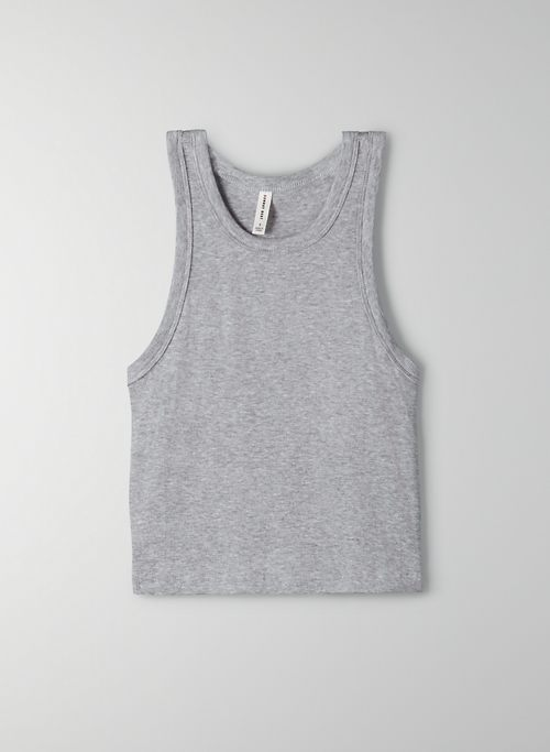 HONOR TANK - Cropped, ribbed racerback tank