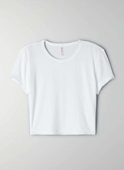BLISS T-SHIRT - Cropped, drapey-rib t-shirt