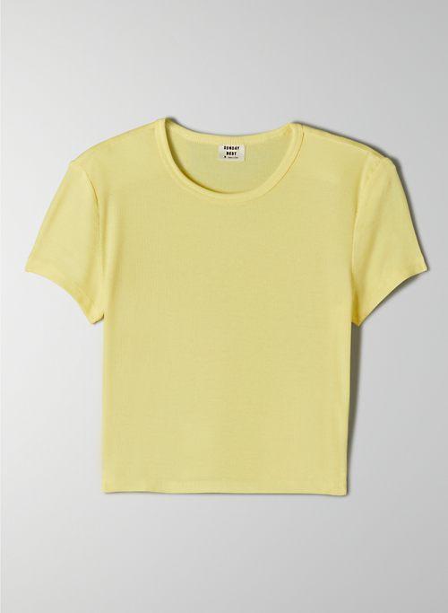 BLISS T-SHIRT - Cropped, drapey-rib t-shirt