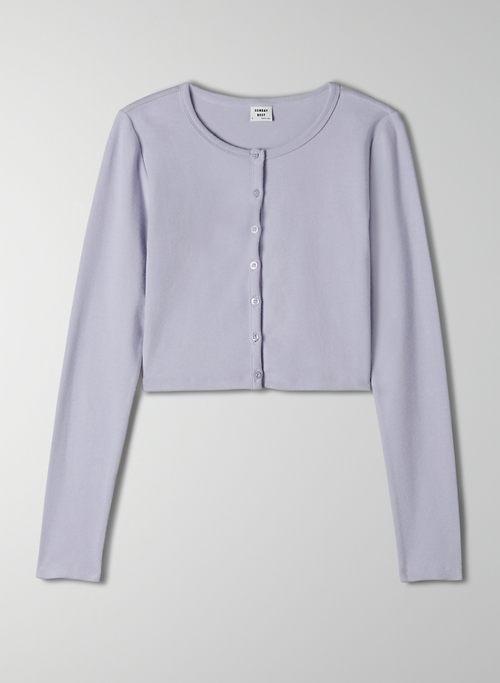 APPLE LONGSLEEVE - Cropped, ribbed cardigan