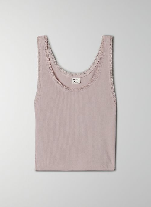 CAREY TANK - Cropped, ribbed tank