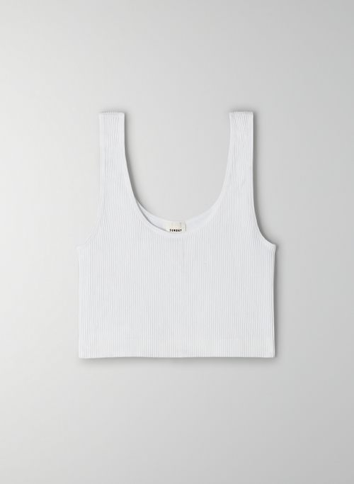 VINCENT SEAMLESS TANK - Cropped, ribbed tank top