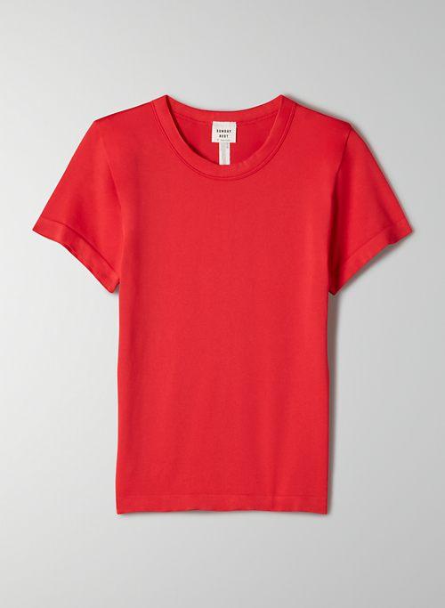 WILLOW SEAMLESS T-SHIRT - Seamless crew-neck t-shirt