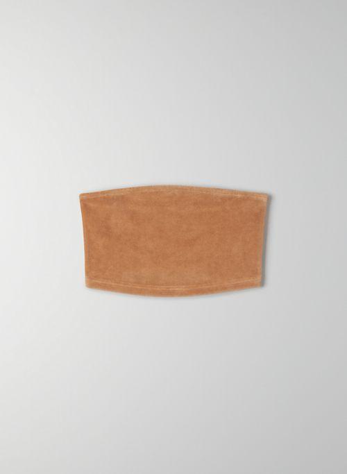KIERA BANDEAU - Cropped velour bandeau