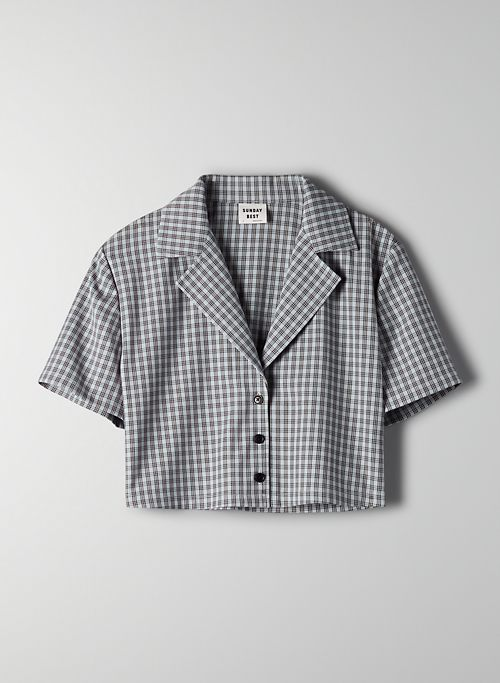 TUESDAY BUTTON-UP - Cropped boxy button-up