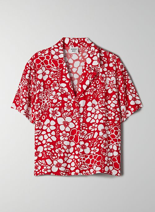 STELLA BLOUSE - Printed, button-up blouse