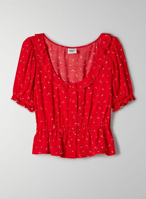 MARISOL BLOUSE - Printed peplum blouse