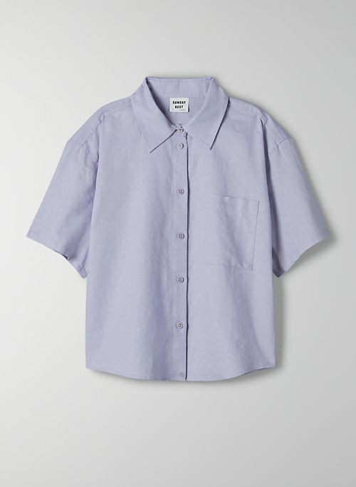ELIZA BUTTON-UP - Short-sleeve button up