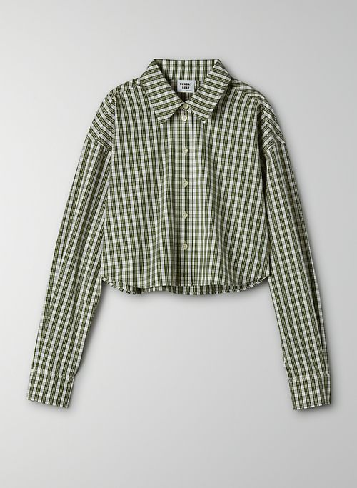 POPPY BUTTON-UP - Cropped, poplin button-up
