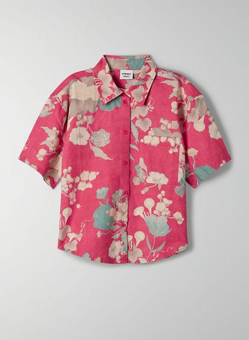 ELIZA BUTTON-UP - Short-sleeve, button-up shirt