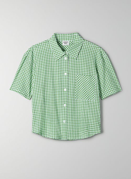 ELIZA BUTTON-UP - Gingham button-up shirt