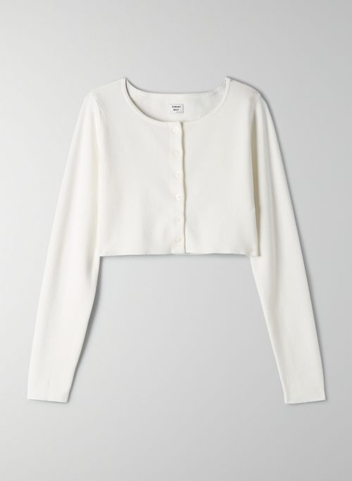 IZZY CARDIGAN - Cropped, button-up cardigan