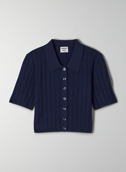 SHERIDAN CARDIGAN - Cropped polo sweater