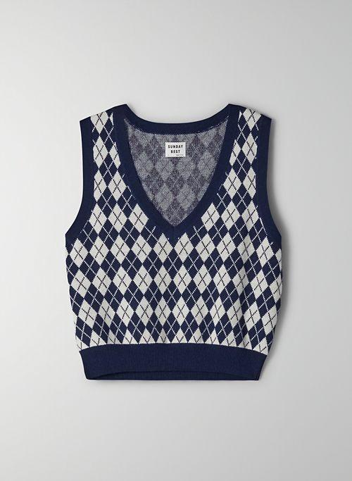 QUINN VEST - Argyle sweater vest