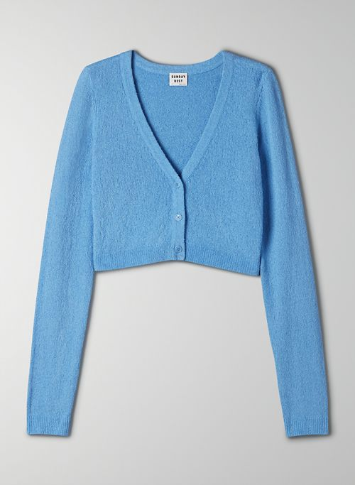 REESE CARDIGAN - Cropped button-up cardigan