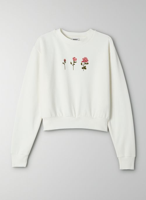 HARLEY SWEATER - Cropped crew neck sweater