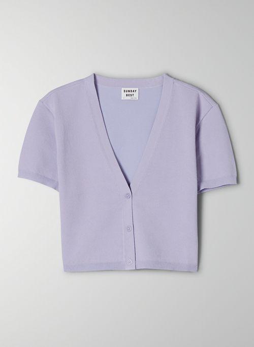 JETT CARDIGAN - Cropped, V-neck cardigan