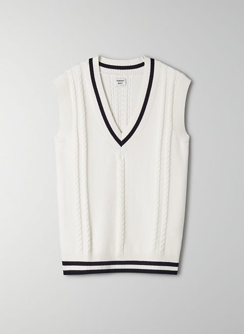 WINSTON SWEATER VEST - Cable knit sweater vest