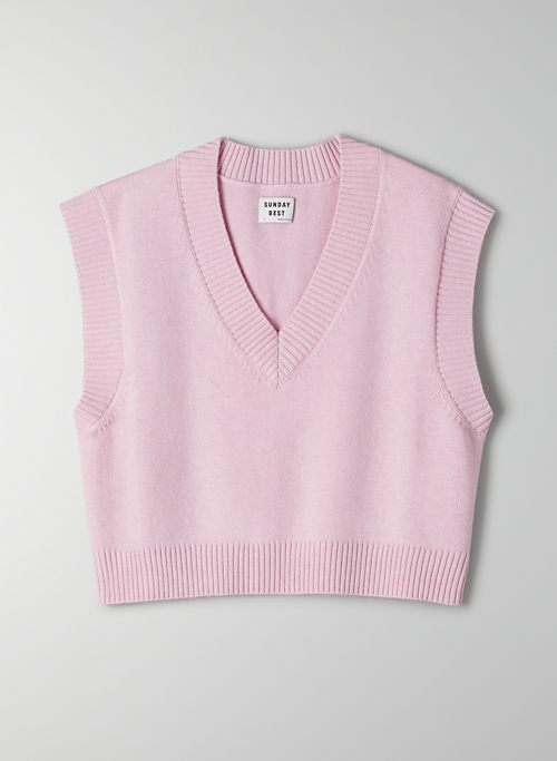 WINSTON CROPPED SWEATER VEST - Cropped sweater vest