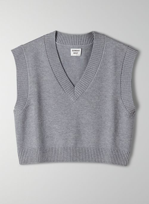 WINSTON CROPPED VEST - Cropped sweater vest