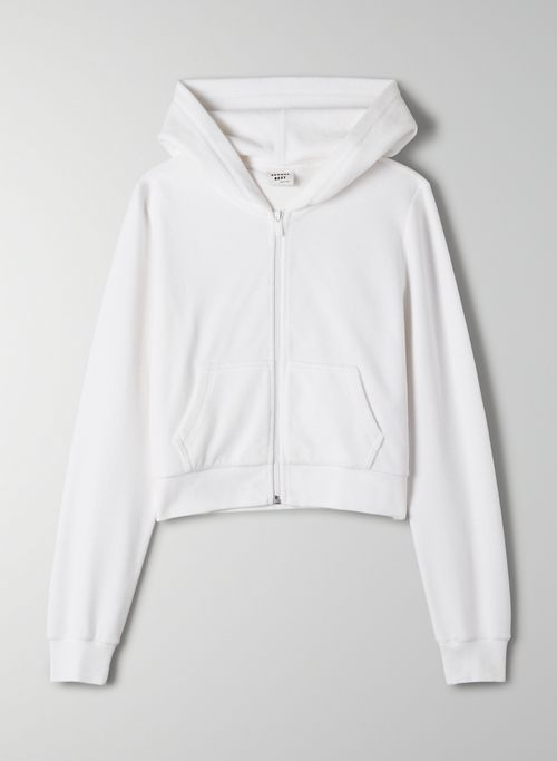 KIERA SWEATER - Velour zip-up hoodie