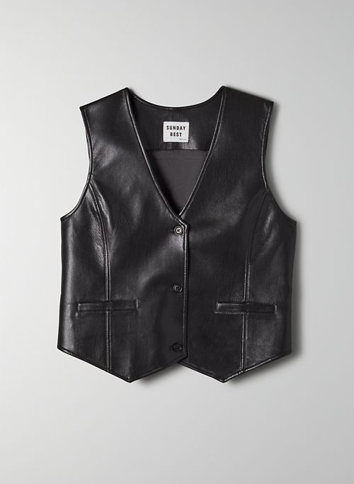 ZOEY VEST - Vegan Leather vest