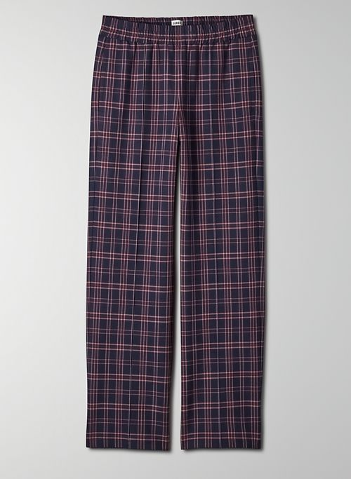 NOMI PANT - Plaid pull on long pants