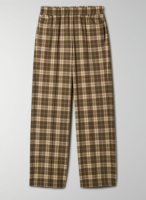 NOMI PANT - Plaid, tailored track pant
