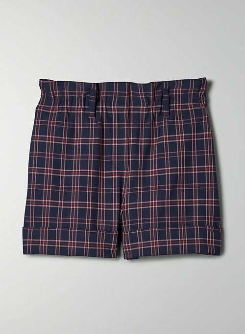 AKI SHORT - High-waisted paper bag shorts