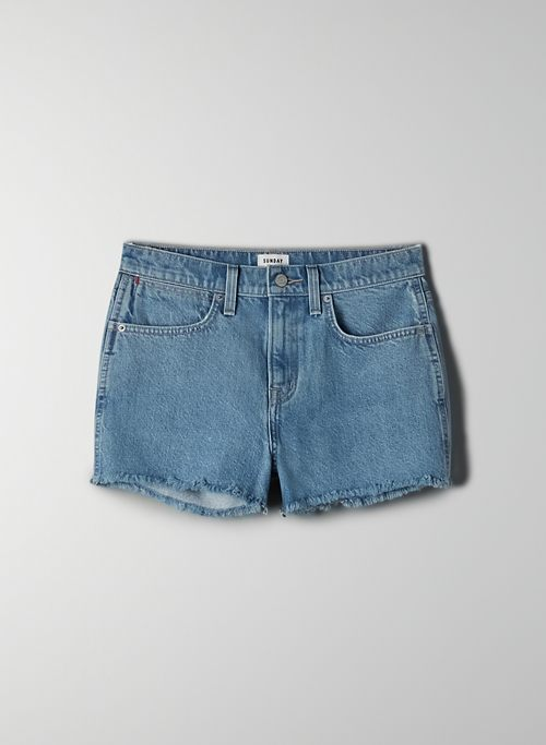 STAN CUT OFF SHORT - Mid-rise cut-off shorts