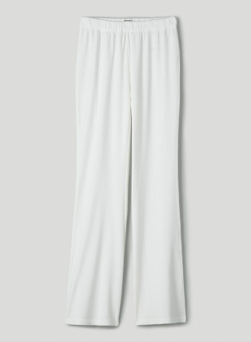 TATE PANT - High-waisted flared, ribbed pants