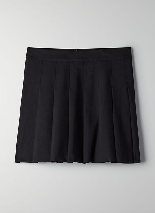 "OLIVE MINI 15"" SKIRT - Pleated mini skirt"