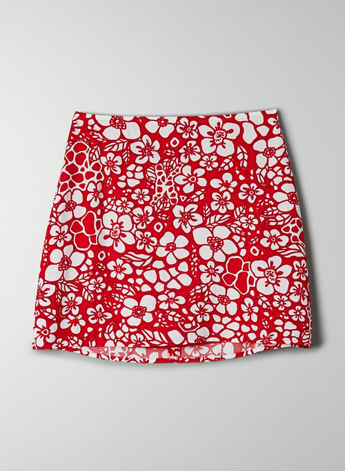 BOBBY SKIRT - High-waisted floral mini skirt