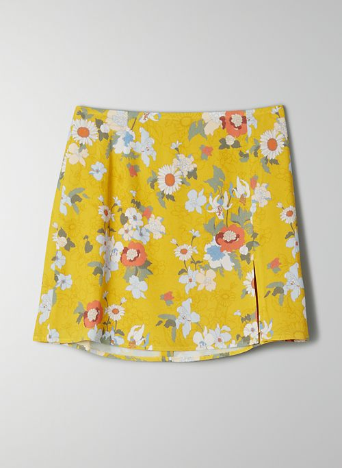 TATIANA SKIRT - High-waisted floral mini skirt