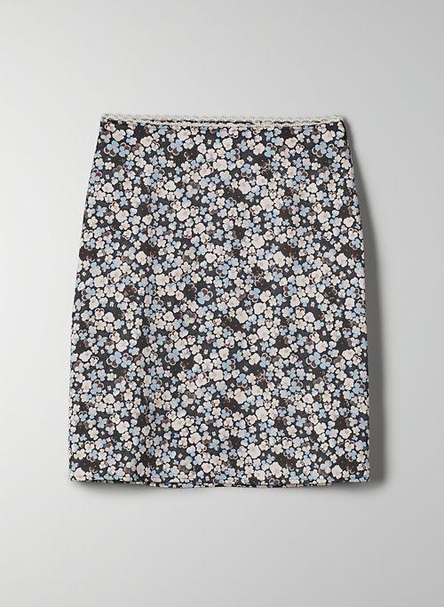 PENELOPE SKIRT - Floral, satin slip skirt