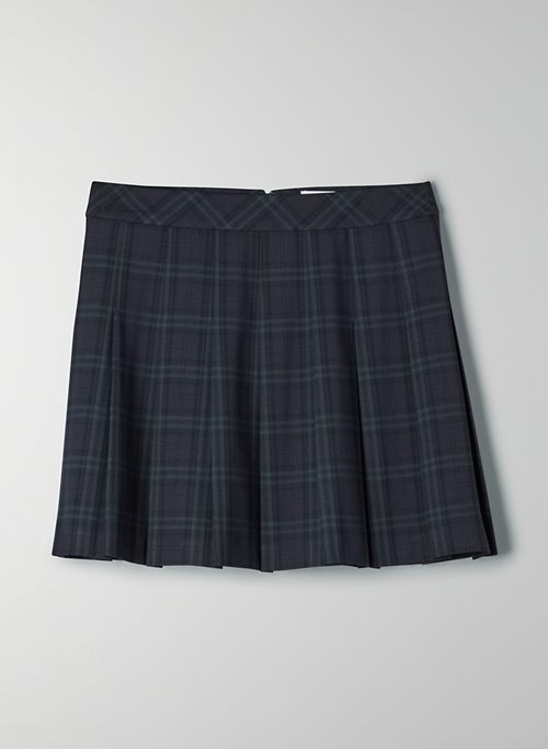 "OLIVE MINI 15"" SKIRT - High-waisted, pleated mini skirt"