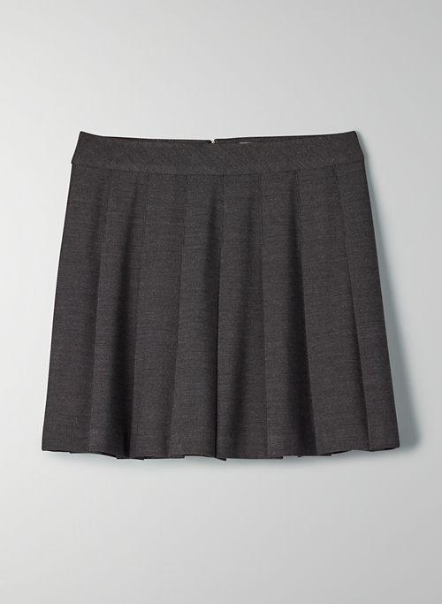 """OLIVE MINI 15"""" SKIRT - High-waisted, pleated mini skirt"""