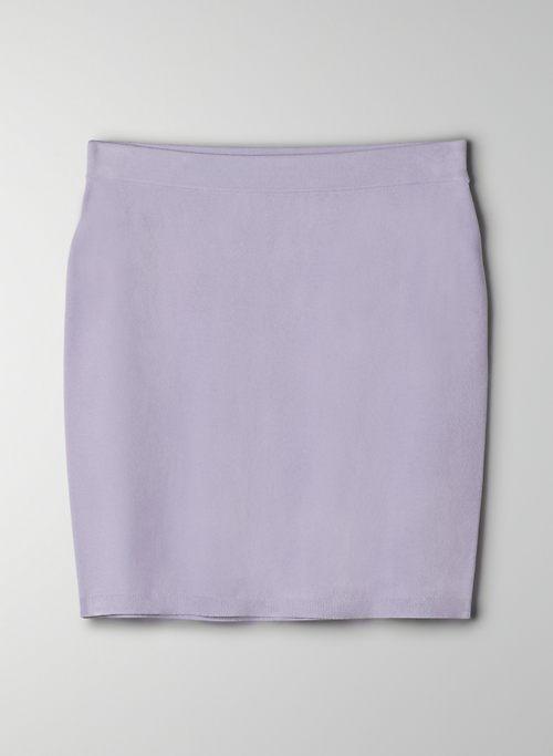 JETT SKIRT - High-waisted, knit mini skirt