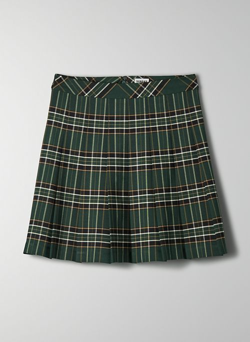 "OLIVE MINI 17"" SKIRT - High-waisted, pleated skirt"