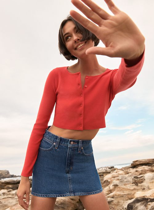 MICRO MINI SKIRT - Denim mini skirt